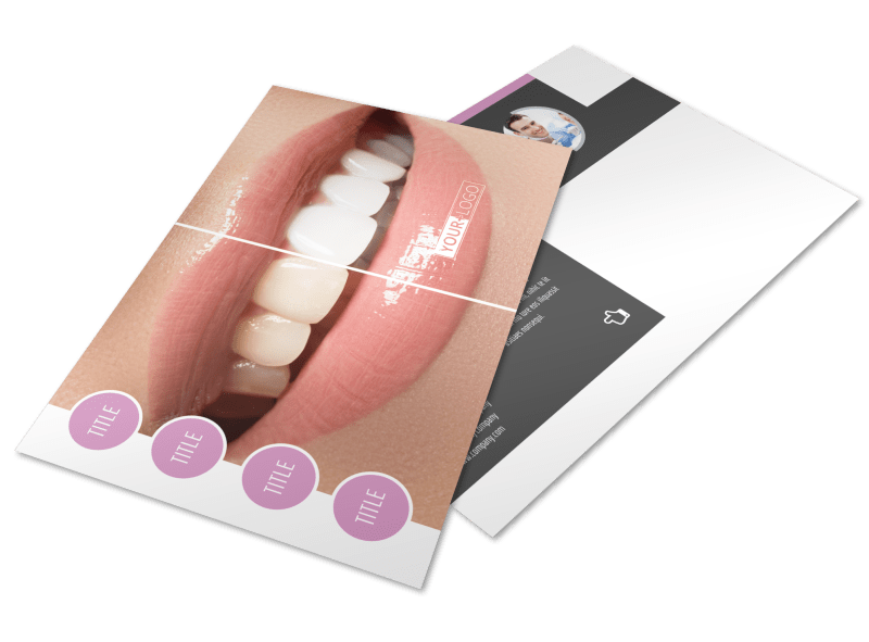 Teeth Whitening Technology Postcard Template Preview 1