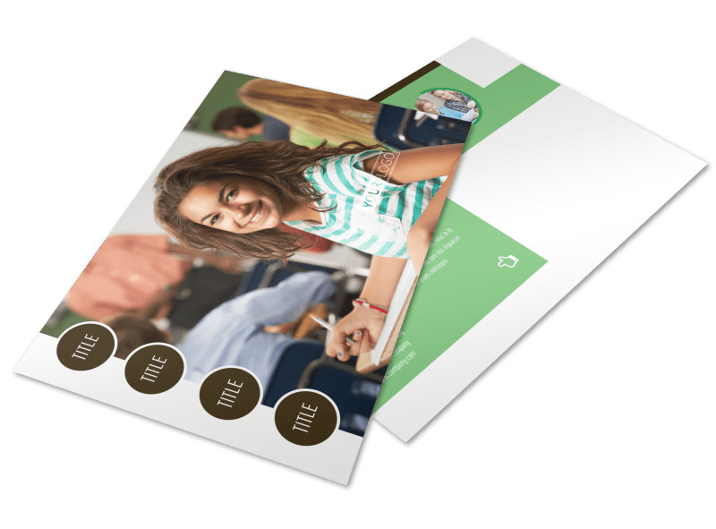 Tutoring Center Postcard Template Preview 4
