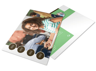 Tutoring Center Postcard Template preview