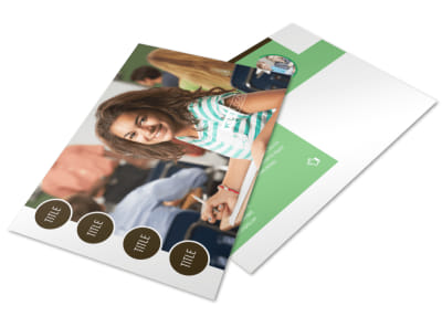 Tutoring Center Postcard Template