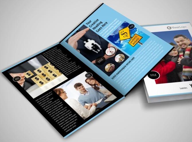 financial brochure templates - financial planner consultant bi fold brochure template