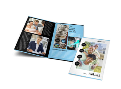Financial Planner & Consultant Bi-Fold Brochure Template preview