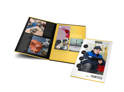 Plumbing Services Bi-Fold Brochure Template preview