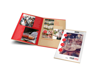Surprise Office Party Bi-Fold Brochure Template