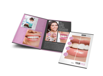 Teeth Whitening Technology Bi-Fold Brochure Template