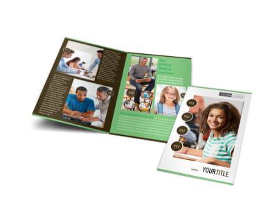 Tutoring Center Bi-Fold Brochure Template preview