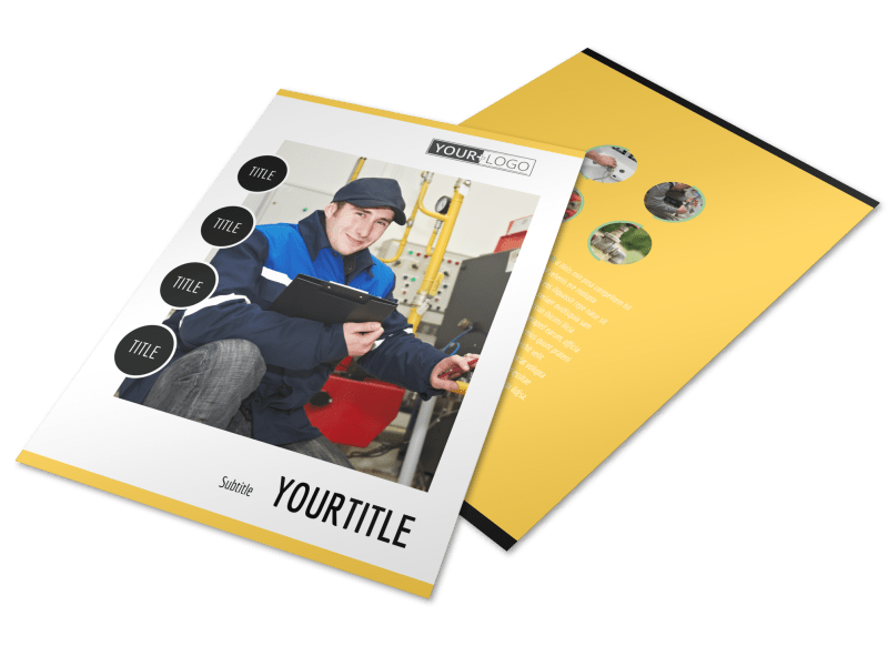 Plumbing Service Flyer Template Preview 1