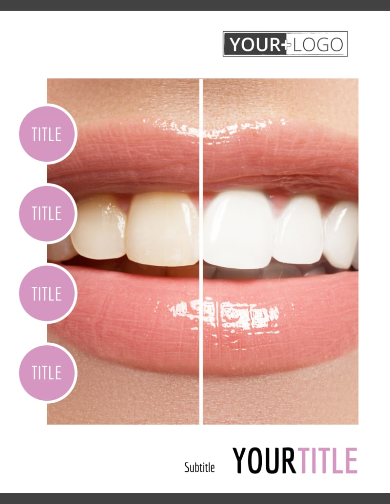 Teeth Whitening Technology Flyer Template Preview 2
