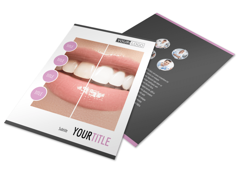 Teeth Whitening Technology Flyer Template Preview 1