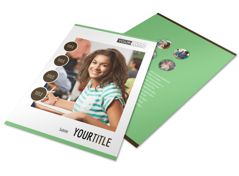 Tutoring Center Flyer Template Preview 1