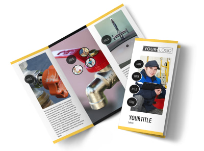 Plumbing Services Brochure Template