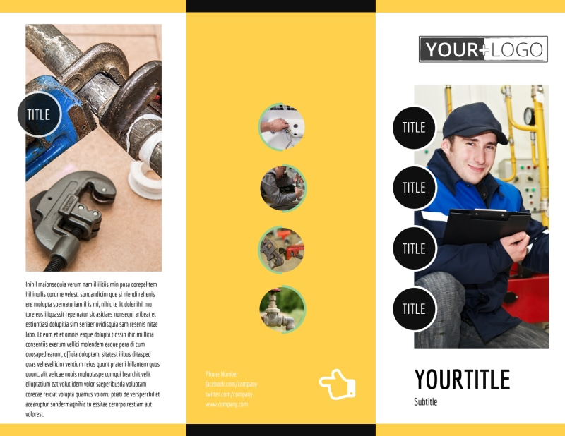 Plumbing Service Brochure Template Preview 2