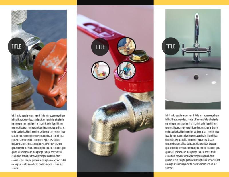 Plumbing Service Brochure Template Preview 3