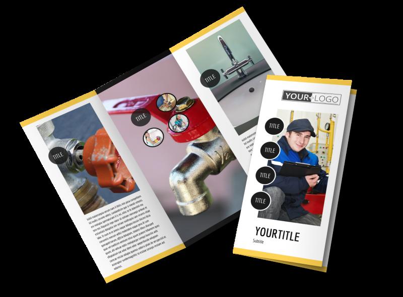 Plumbing Service Brochure Template Preview 1