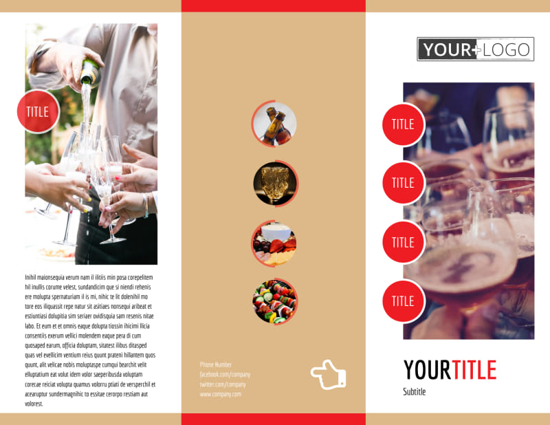Surprise Office Party Brochure Template Preview 2