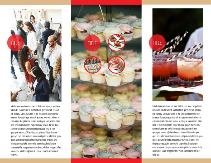 Surprise Office Party Brochure Template Preview 3