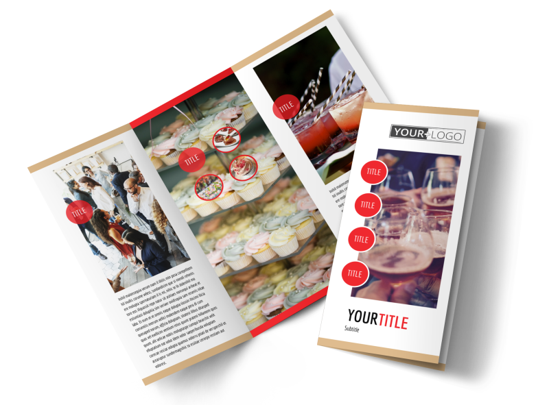 Surprise Office Party Brochure Template Preview 1