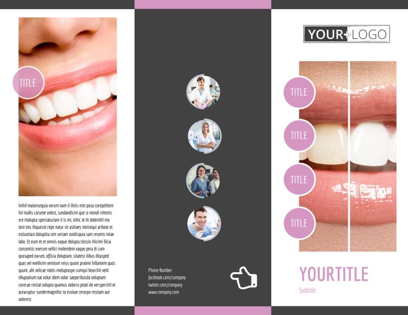 Teeth Whitening Technology Brochure Template Preview 2