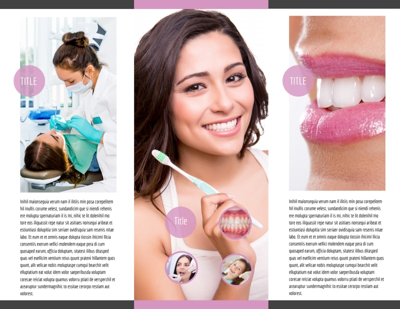 Teeth Whitening Technology Brochure Template Preview 3