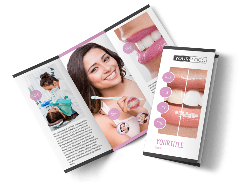 Teeth Whitening Technology Brochure Template Preview 1