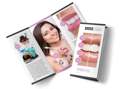 Teeth Whitening Technology Tri-Fold Brochure Template