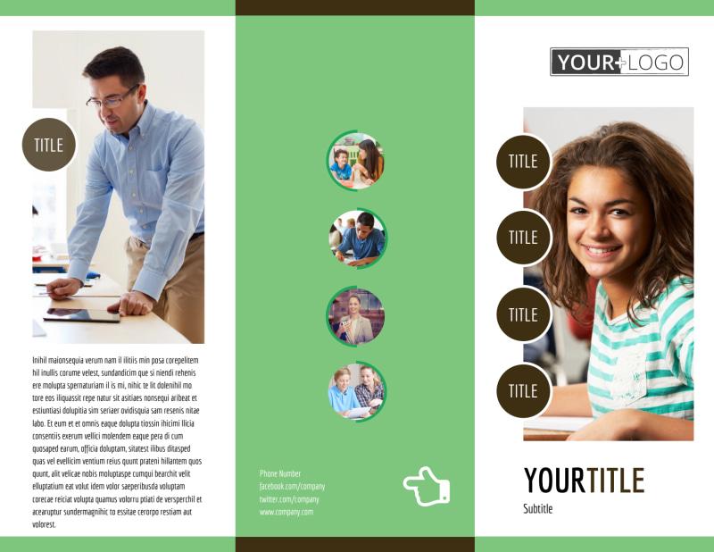 Tutoring Center Brochure Template Preview 2