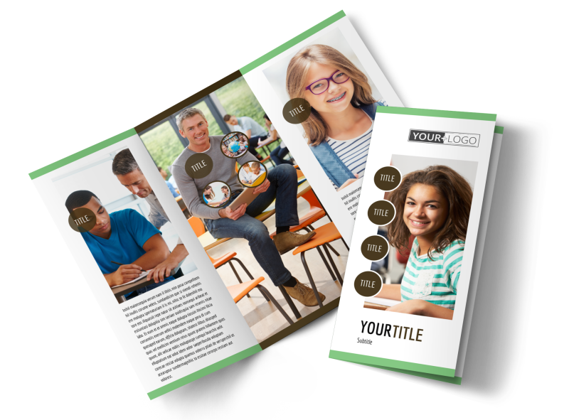 Tutoring Center Brochure Template Preview 1
