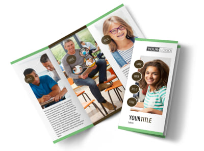 Tutoring Center Tri-Fold Brochure Template preview