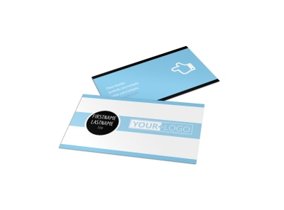 Financial Planner & Consultant Business Card Template preview