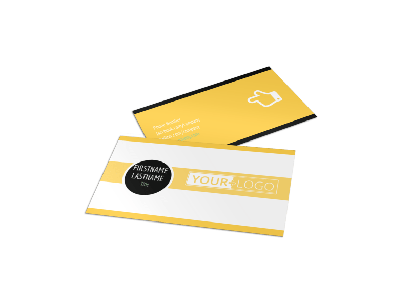 Plumbing Service Business Card Template Preview 1