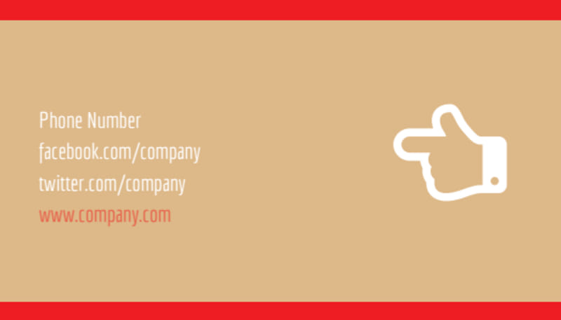 Surprise Office Party Business Card Template Preview 3
