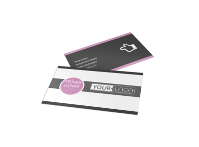 Teeth Whitening Technology Business Card Template preview