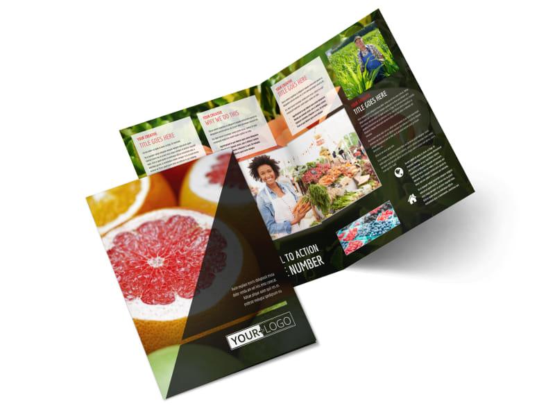 Farmers Market Bi-Fold Brochure Template 2