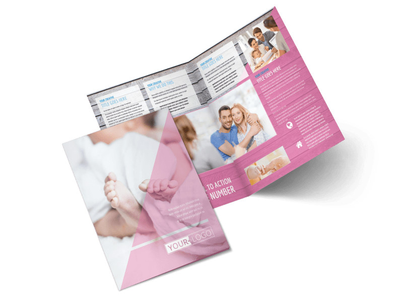 Fertility Clinic Bi-Fold Brochure Template 2