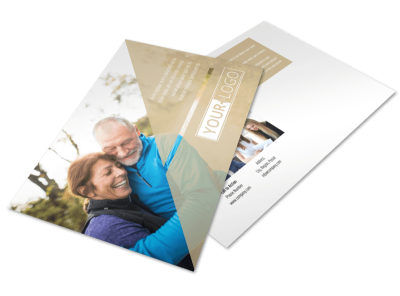 Medical Insurance Postcard Template preview