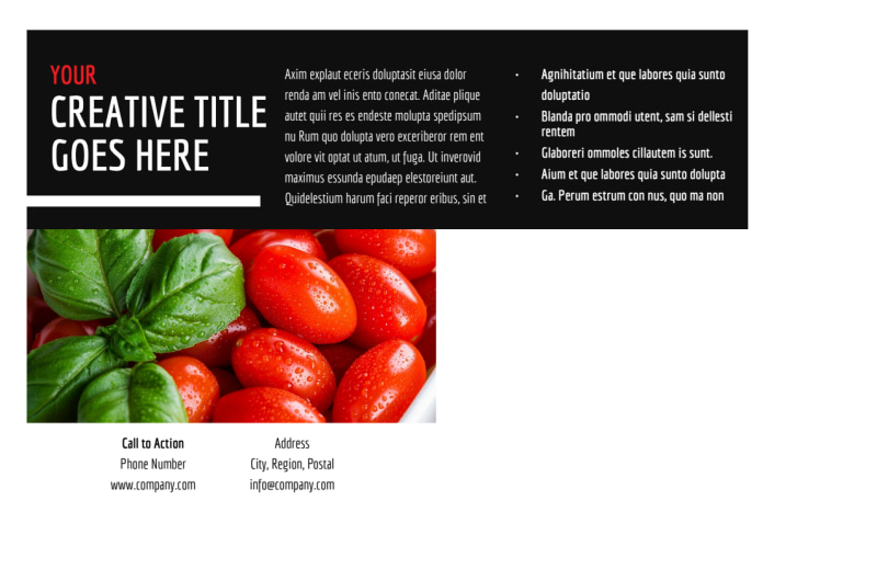 Farmers Market Postcard Template Preview 3