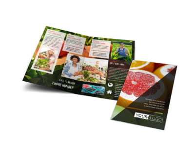 Farmers Market Bi-Fold Brochure Template