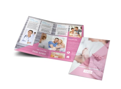 Fertility Clinic Bi-Fold Brochure Template