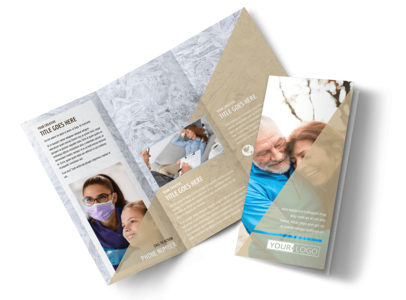 Medical Insurance Tri-Fold Brochure Template