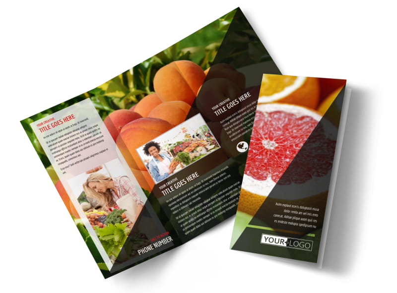 Farmers market brochure template mycreativeshop for Cost to design a brochure