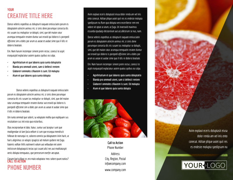Farmers Market Brochure Template Preview 2
