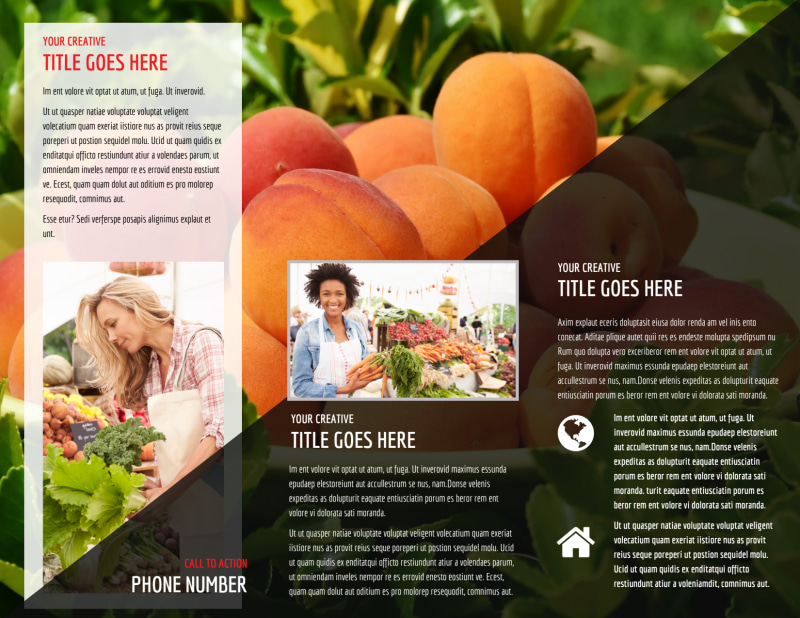 Farmers Market Brochure Template Preview 3