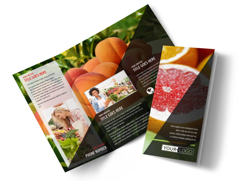 Farmers Market Brochure Template Preview 1