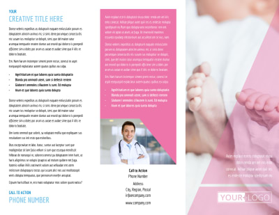 Fertility Clinic Brochure Template Preview 1