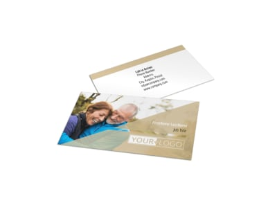 Medical Insurance Company Business Card Template preview