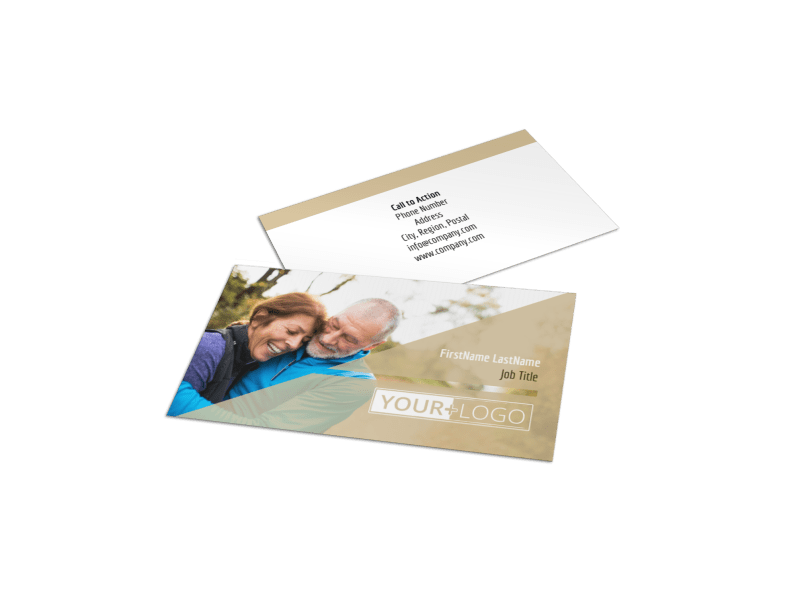 Medical Insurance Business Card Template Preview 1