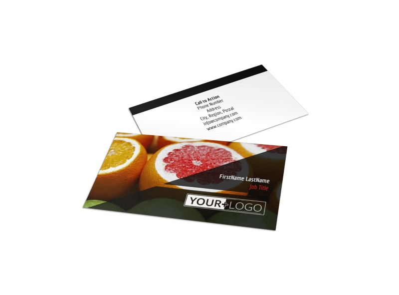 Farmers Market Business Card Template