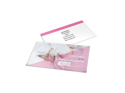Fertility Clinic Business Card Template preview