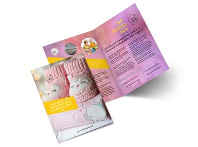 Baby Store Bi-Fold Brochure Template 2