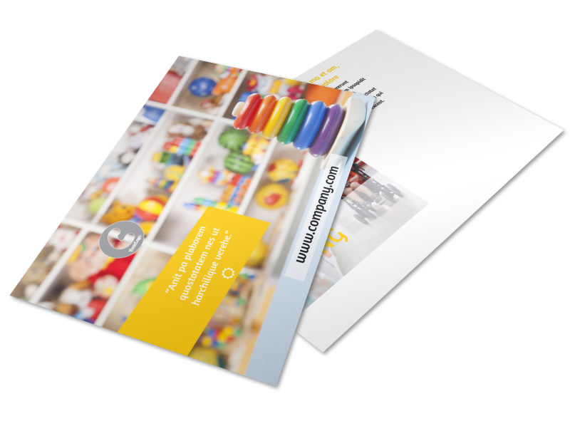 Baby Store Postcard Template 2